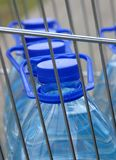 Bottles of water. Plastic bottles of water in the shopping cart Stock Photo