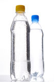 Bottles of water. Isolated on white background stock photos