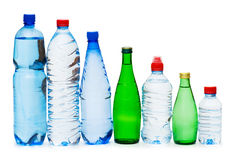 Bottles of water isolated Stock Photo