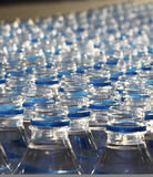 Bottles of water during marathon Royalty Free Stock Image