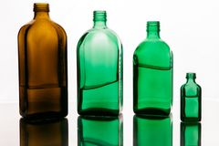 Bottles on white background royalty free stock photo