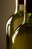 Bottles of white wine royalty free stock photo