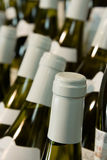 Bottles of wine. Few Bottles Of white Wine and blured background Stock Image