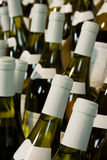 Bottles of wine. Few Bottles Of white Wine and blured background Stock Photography