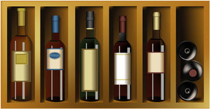Bottles of wine Stock Photography