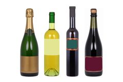 Bottles of wine Stock Image