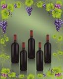 Bottles of Wine Royalty Free Stock Photo
