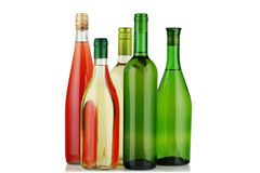 Bottles of wine. Royalty Free Stock Photo
