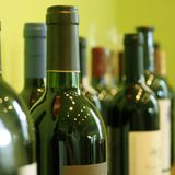 Bottles Of Wine. Some bottles of wine in a wine store Stock Photos