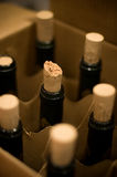 Bottles of wine. In a box Royalty Free Stock Images