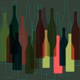 Bottles wine background  Stock Images