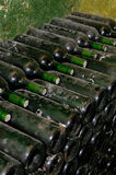 Bottles in wine cellar Royalty Free Stock Image