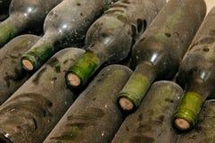 Bottles in wine cellar Royalty Free Stock Image