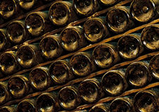 Bottles in wine cellar Royalty Free Stock Photography