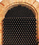 Bottles of wine in cellar. Royalty Free Stock Images