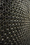 Bottles In Wine Cellar Royalty Free Stock Images