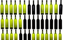 Bottles wine drink restaurant. Some bottles of red and white wine Stock Photos