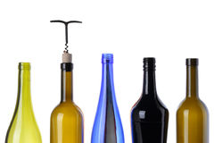 Bottles for wine Stock Photography