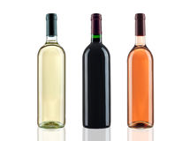 Bottles of wine stock image
