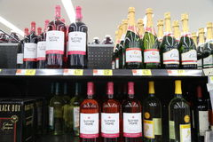 Bottles of wine Stock Photography