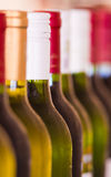 Bottles of Wine. Many bottles Bottles of wine and a bar or restaurant Stock Image