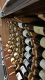 Bottles of quality wine on display for sale Royalty Free Stock Photo
