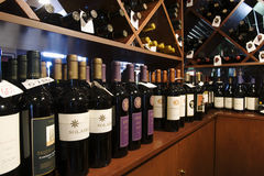 Bottles In Wine Shop Stock Image