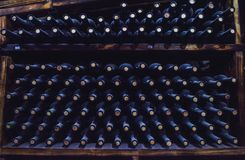 Wine Storage in the Cellar .  America : Royalty Free Stock Photography