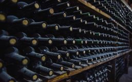 Wine Storage in the Cellar .  America : Stock Images