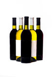 Bottles with wine. Bottles with white and red wine Royalty Free Stock Photography