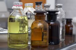 Bottles With Medicinal Stock Photo