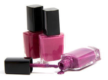 Free Bottles With Spilled Nail Polish Over White Stock Photo - 88823840