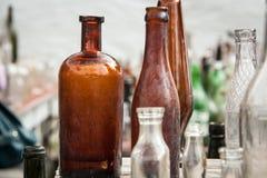 Bottles yard sale Stock Image