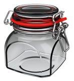 Bottling jar. 3d generated picture of a bottling jar stock illustration