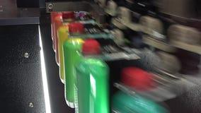 Bottling line solution. Flexible line solutions for the bottling on demands stock video