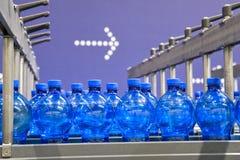 Bottling plant. Bottles in a Bottling plant Stock Photos