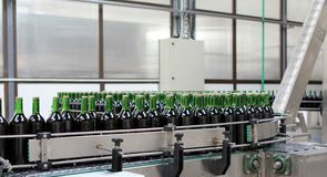 Bottling plant royalty free stock photo