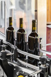 The bottling of wine. The bottling of a prized Italian wine industry Royalty Free Stock Photos