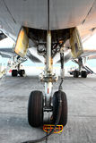The bottom of the aircraft Stock Image