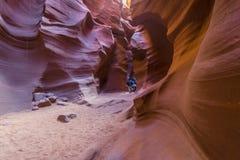 Bottom of antelope canyon Stock Photo