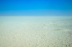 Bottom of Aral Sea. Bared the bed of the Aral Sea. Neighborhood Barsakelmes island Royalty Free Stock Photos