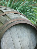 Bottom of the Barrel. Bottom of an old wooden barrel stock image