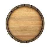 Bottom of the barrel background. The bottom of a wine barrel on a white background stock photos