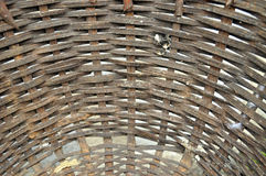 BOTTOM BASKET WOVEN Stock Image