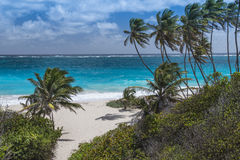 Bottom Bay Barbados. Bottom Bay on the Atlantic east coast of the Caribbean island of Barbados in the West Indies Stock Photos