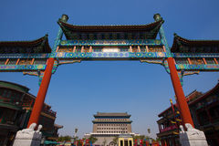 Bottom Beijing Zhengyangmen archway Royalty Free Stock Images