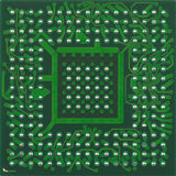Bottom BGA Chip. The underside of the BGA processor chip Stock Photography