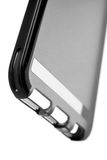 Bottom of a Black Translucent Smartphone Protective Case Royalty Free Stock Images