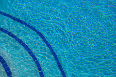 Bottom of blue pool Stock Photo