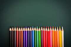 Bottom border of colorful pencil Stock Photo